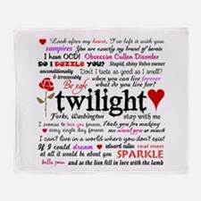 Twilight Quotes Throw Blanket