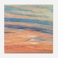 Sunset Orange Tile Coaster