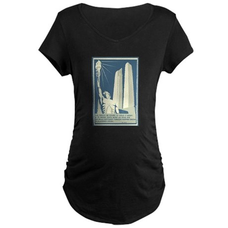 Vimy Ridge Memorial Maternity Dark T-Shirt