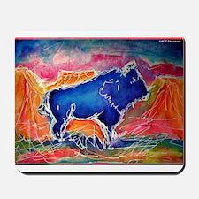 Buffalo,southwest art, Mousepad
