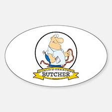 WORLDS GREATEST BUTCHER CARTOON Decal