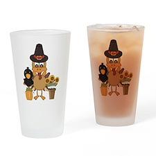 Thanksgiving Friends Drinking Glass