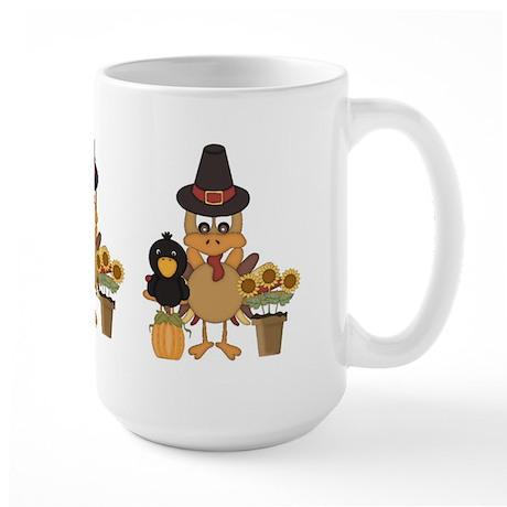 Thanksgiving Friends Large Mug