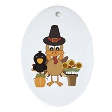 Thanksgiving Friends Ornament (Oval)