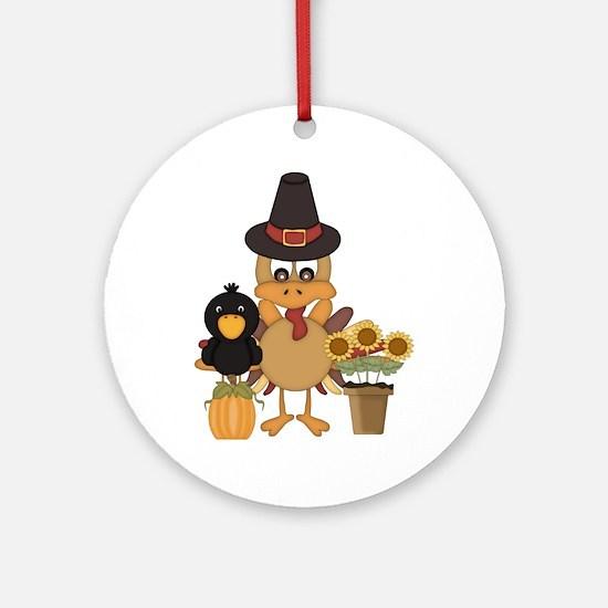 Thanksgiving Friends Ornament (Round)