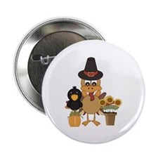 "Thanksgiving Friends 2.25"" Button (10 pack)"