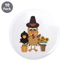"Thanksgiving Friends 3.5"" Button (10 pack)"