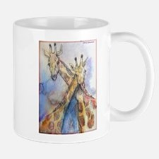 Giraffes, wildlife art, Mug