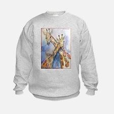 Giraffes, wildlife art, Sweatshirt