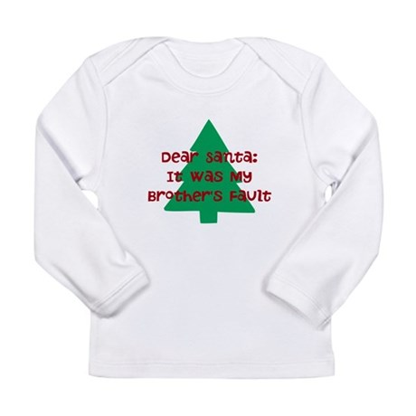 Santa: Brother's Fault Long Sleeve Infant T-Shirt