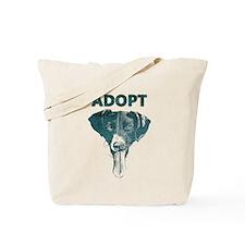 Adopt blue dog Tote Bag