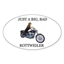 Rottweiler on Motorcycle Decal