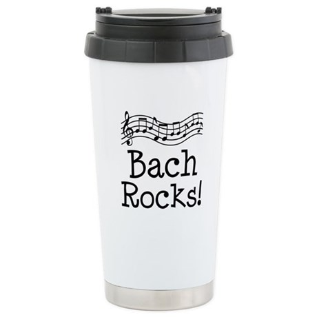 Bach Music Quote Travel Mug