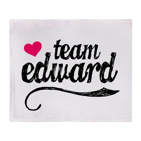 Team Edward Throw Blanket