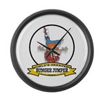 WORLDS GREATEST BUNGEE JUMPER Large Wall Clock