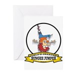WORLDS GREATEST BUNGEE JUMPER Greeting Cards (Pk o