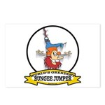 WORLDS GREATEST BUNGEE JUMPER Postcards (Package o