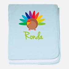 Ronda the Turkey baby blanket