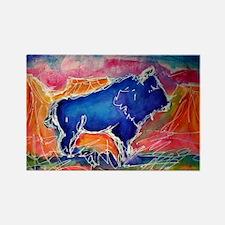 Buffalo,southwest art, Rectangle Magnet