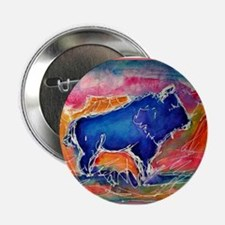 "Buffalo,southwest art, 2.25"" Button (10 pack)"