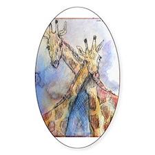 Giraffes, wildlife art, Decal