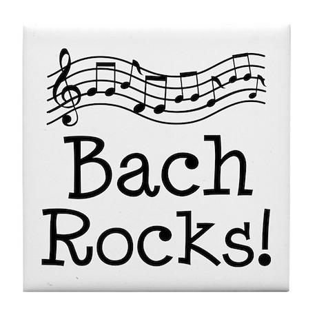 Bach Rocks Music Tile Coaster