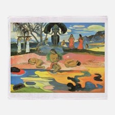 Mahana No Atua, Gauguin Throw Blanket