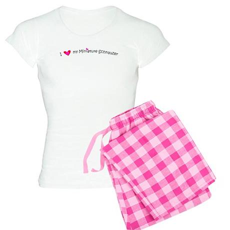 I Love My Miniature Schnauzer Women's Light Pajama