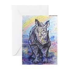Rhino, wildlife art, Greeting Card