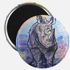 "Rhino, wildlife art, 2.25"" Magnet (10 pack)"