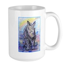 Rhino, wildlife art, Mug