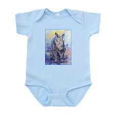 Rhino, wildlife art, Onesie