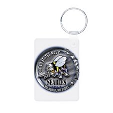 USN Seabees We Build We Fight Keychains