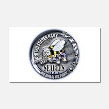 USN Seabees We Build We Fight Car Magnet 20 x 12