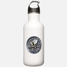 USN Seabees We Build We Fight Water Bottle