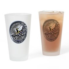 USN Seabees We Build We Fight Drinking Glass