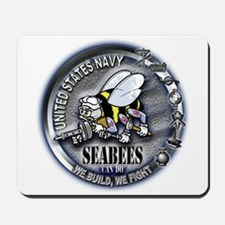 USN Seabees We Build We Fight Mousepad