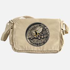 USN Seabees We Build We Fight Messenger Bag