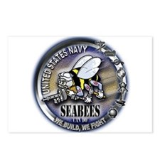 USN Seabees We Build We Fight Postcards (Package o