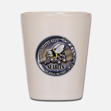 USN Seabees We Build We Fight Shot Glass