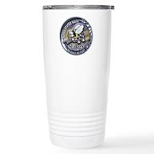 USN Seabees We Build We Fight Travel Mug