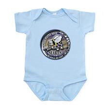USN Seabees We Build We Fight Infant Bodysuit