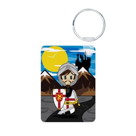 Cute Medieval Knight Aluminum Photo Keychain