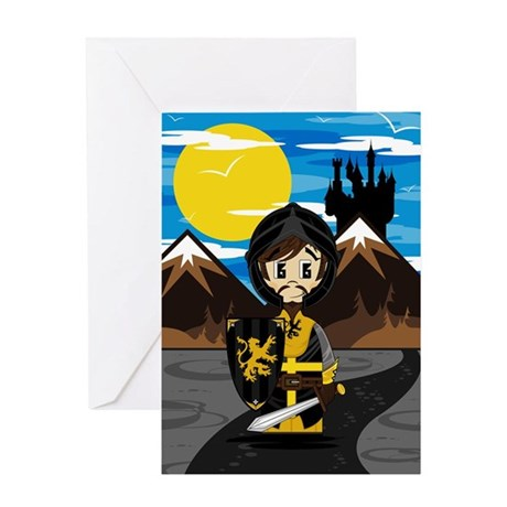 Cute Medieval Knight Greeting Card