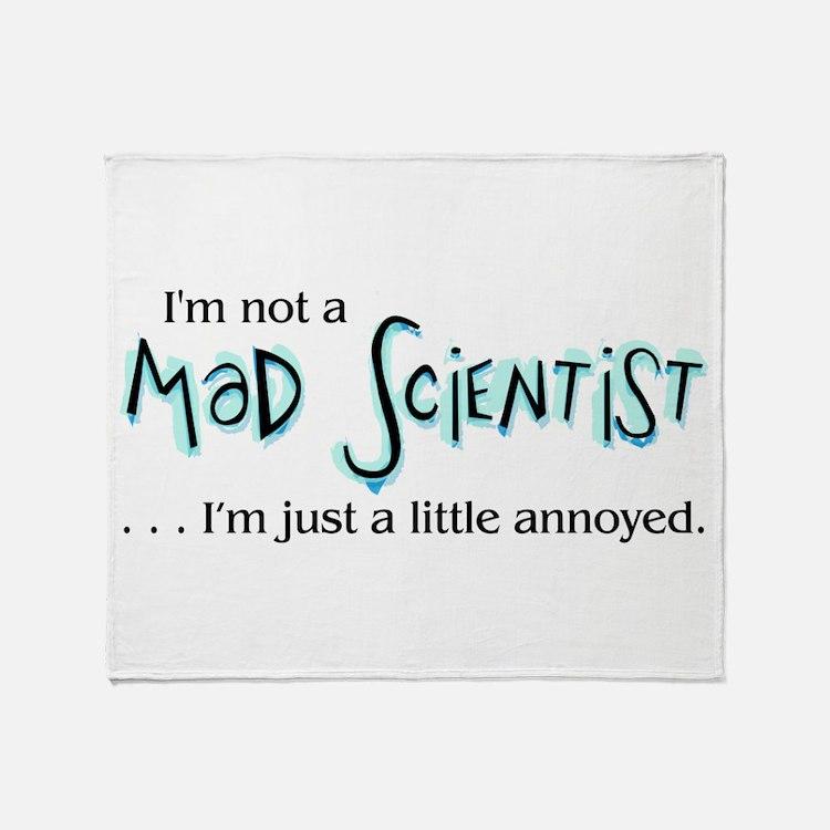 Mad Scientist Throw Blanket