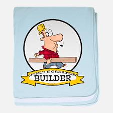 WORLDS GREATEST BUILDER baby blanket