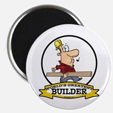 "WORLDS GREATEST BUILDER 2.25"" Magnet (100 pack)"