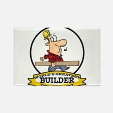 WORLDS GREATEST BUILDER Rectangle Magnet