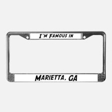 Famous in Marietta License Plate Frame