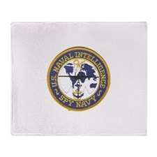 Spy Navy Throw Blanket